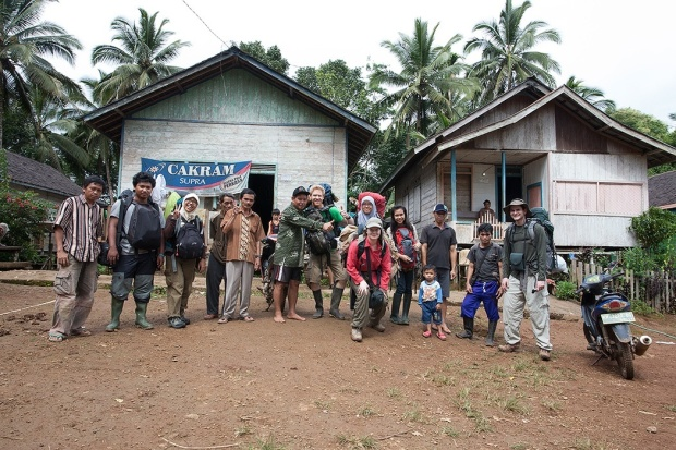 The team with some of the local villagers.